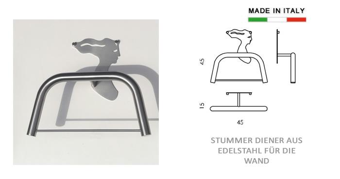 herrendiener aus edelstahl f r die wand h9731. Black Bedroom Furniture Sets. Home Design Ideas