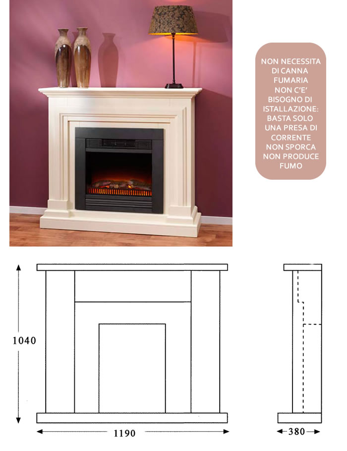 british fires elektrokamin klassisch h10502. Black Bedroom Furniture Sets. Home Design Ideas