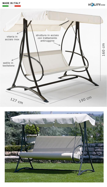hollywoodschaukel mit stahlgestell h12311. Black Bedroom Furniture Sets. Home Design Ideas